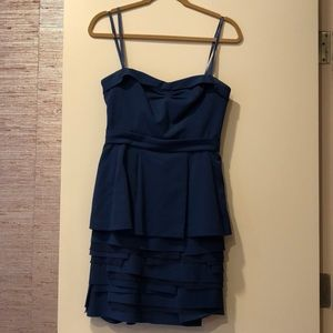 BCBGMAXAZRIA BLUE STRAPLESS DRESS SIZE 4
